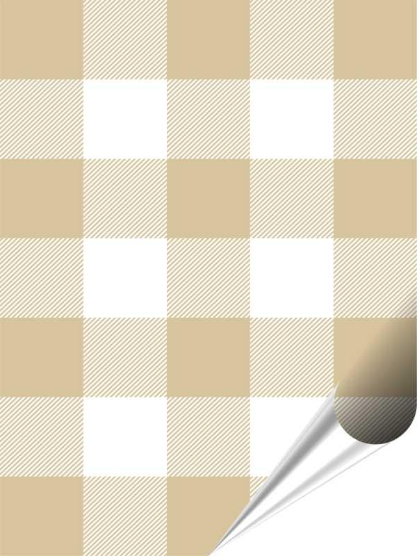 Fliesenaufkleber Mosaik Crossline Beige 15x20 cm – Bild 1