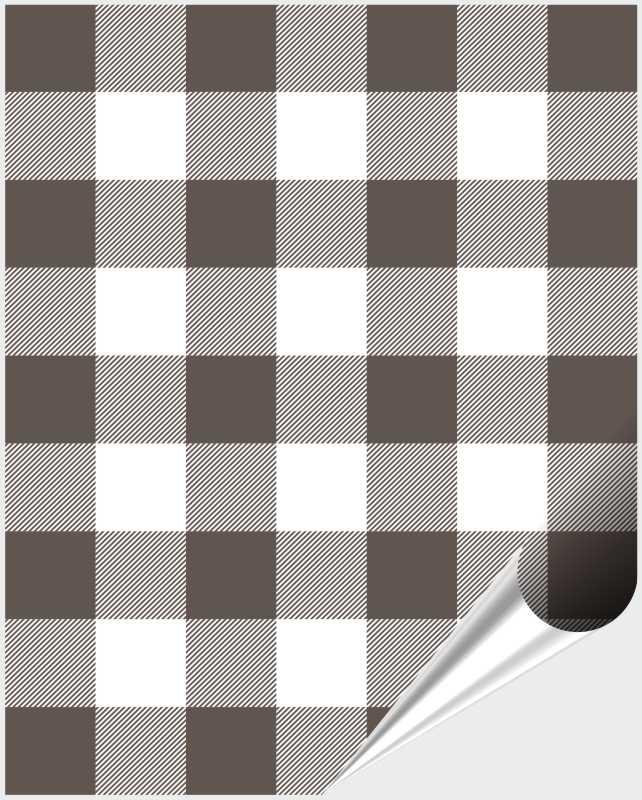 Fliesenaufkleber Mosaik Crossline Brown 20x25 cm – Bild 1