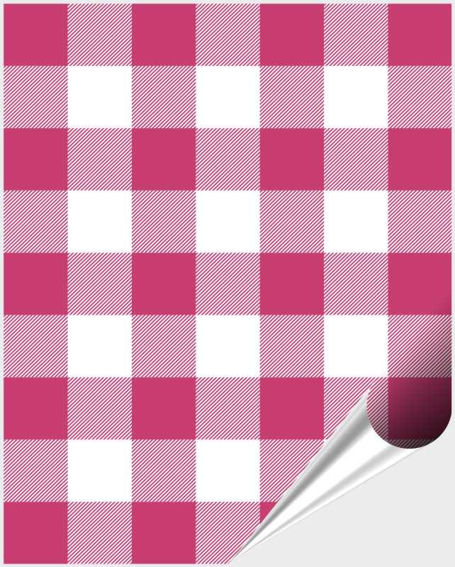 Fliesenaufkleber Mosaik Crossline Pink 20x25 cm – Bild 1