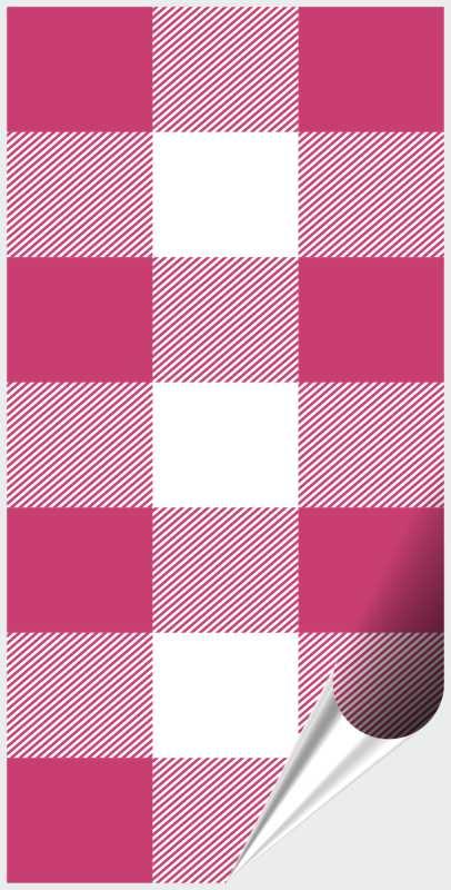 Fliesenaufkleber Mosaik Crossline Pink 10x20 cm – Bild 1