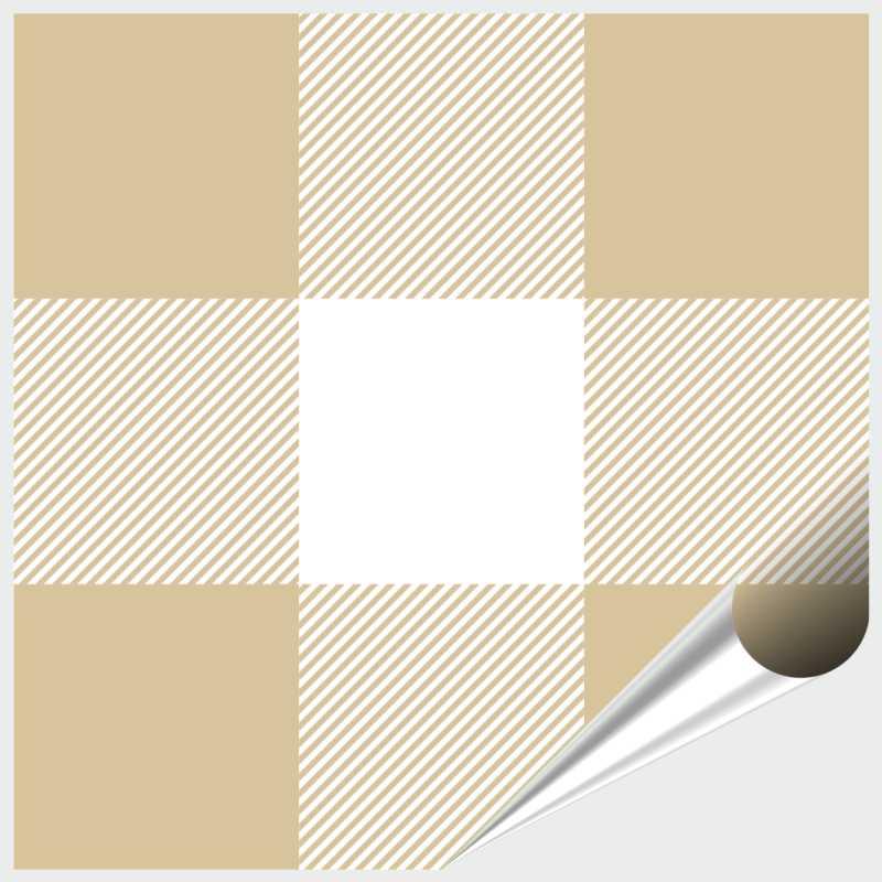 Fliesenaufkleber Mosaik Crossline Beige 10x10 Cm