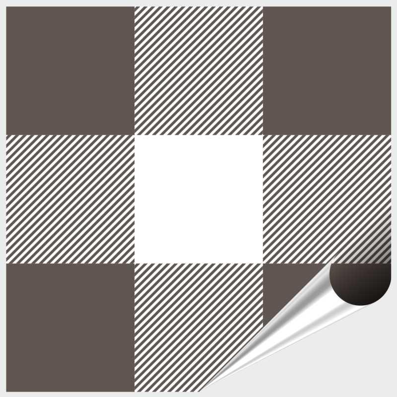 Fliesenaufkleber Mosaik Crossline Brown 10x10 cm – Bild 1