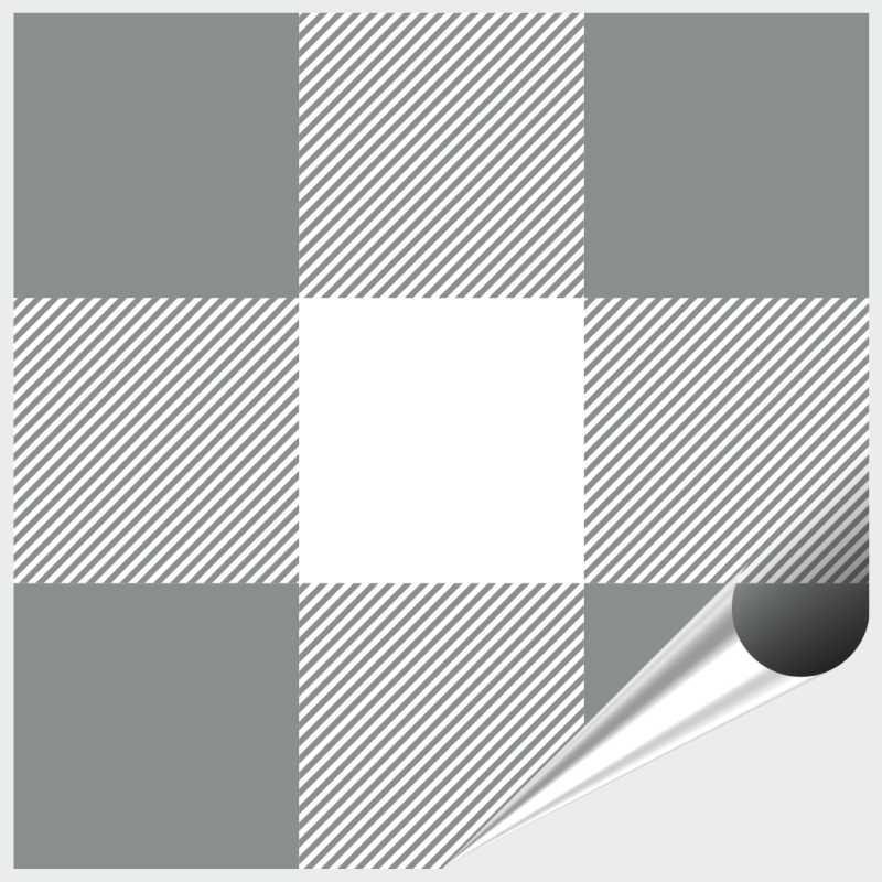 Fliesenaufkleber Mosaik Crossline Grey 10x10 cm – Bild 1