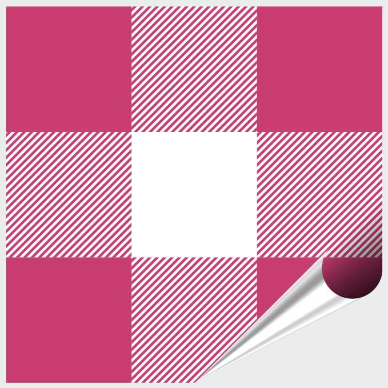 Fliesenaufkleber Mosaik Crossline Pink 10x10 cm – Bild 1