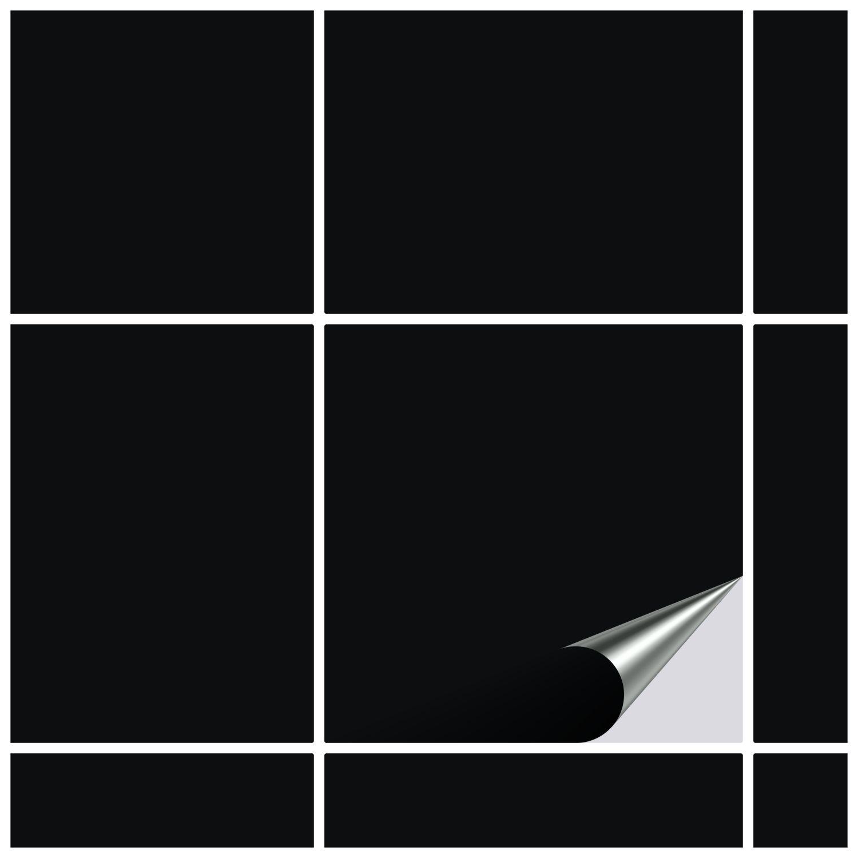 Fliesenaufkleber Schwarz