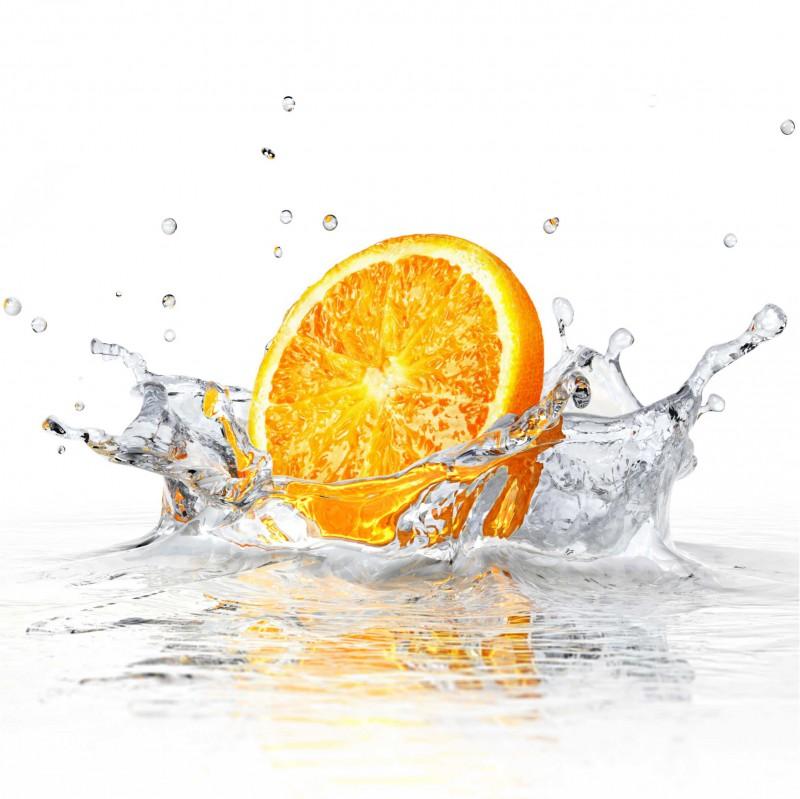Fliesenaufkleber Motiv Splashing Orange 10x10 cm – Bild 2