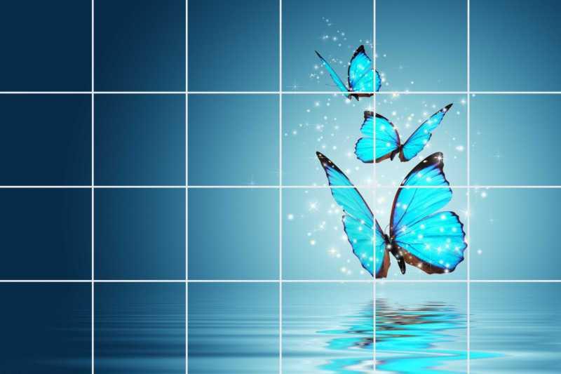 Fliesenbild Butterfly – Bild 1