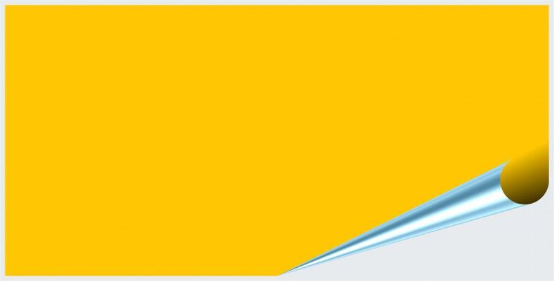 Fliesenaufkleber Gelb glänzend 10x20 cm – Bild 2