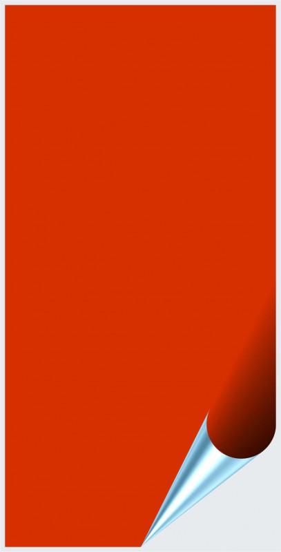 Fliesenaufkleber Orangenrot glänzend 10x20 cm – Bild 1