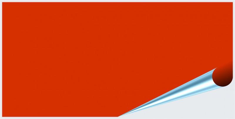 Fliesenaufkleber Orangenrot matt 10x20 cm – Bild 2