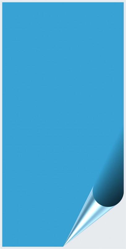 Fliesenaufkleber Lichtblau matt 10x20 cm – Bild 1