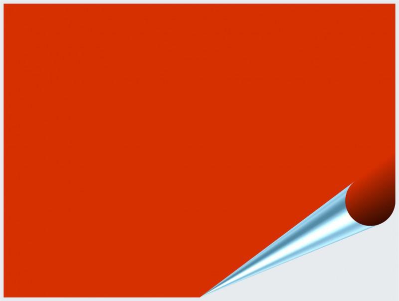 Fliesenaufkleber Orangenrot glänzend 15x20 cm – Bild 2