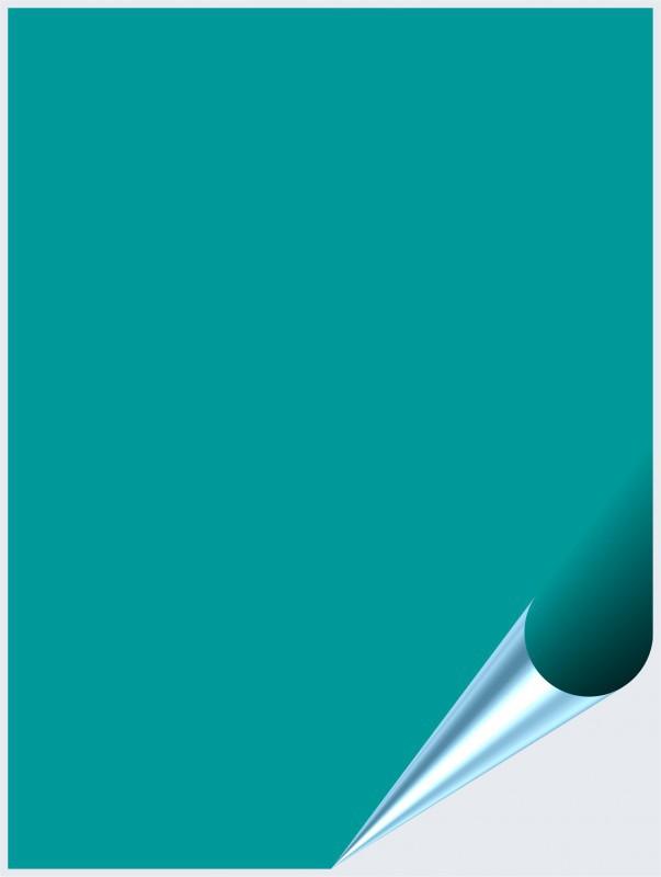 Fliesenaufkleber Türkis glänzend 15x20 cm