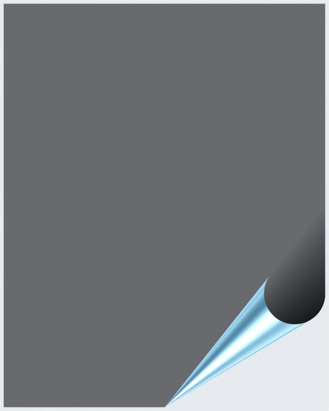 Fliesenaufkleber Silbergrau glänzend 20x25 cm – Bild 1