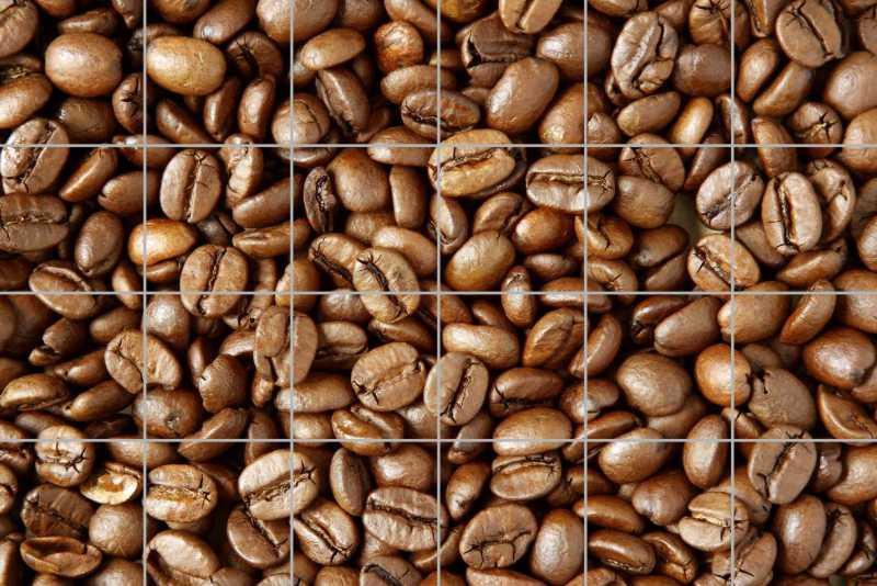Fliesenbild Kaffeebohnen – Bild 1