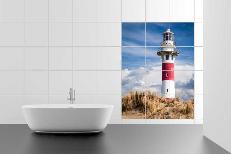 Fliesenbild Lighthouse in Nieuwpoort – Bild 2