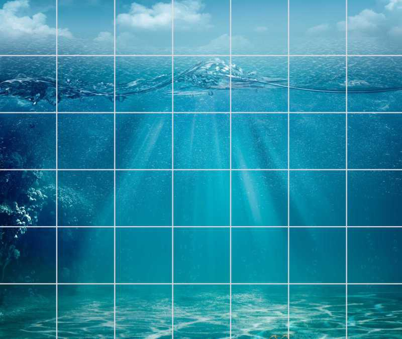 Fliesenbild Ozean