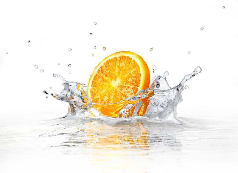 Fliesenbild Splashing Orange – Bild 3