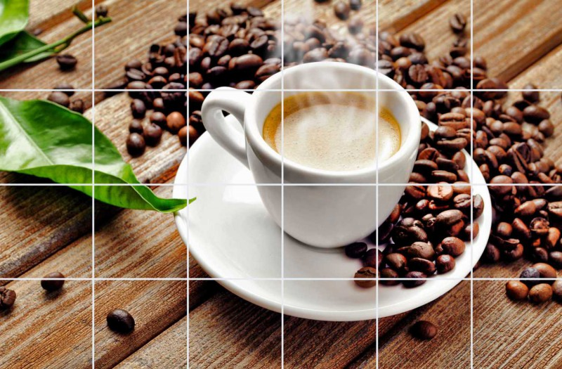 Fliesenbild Kaffeepause – Bild 1