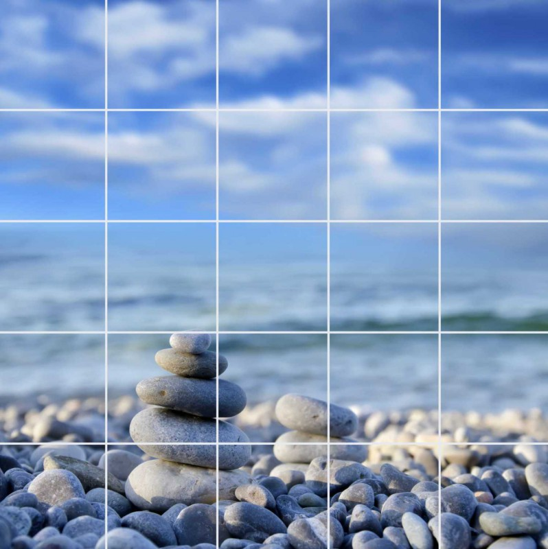 Fliesenbild Zen Stones – Bild 1