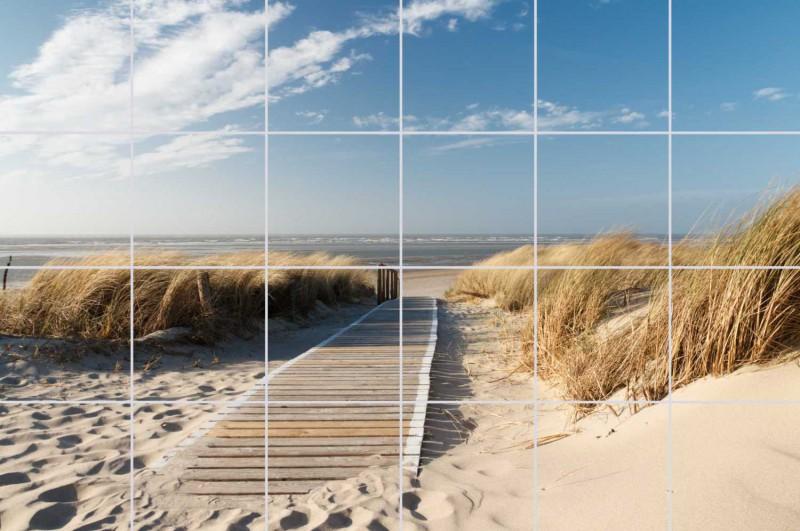 Fliesenbild Weg zum Strand – Bild 1