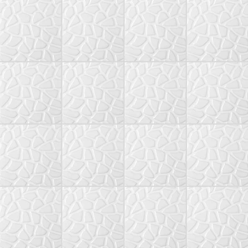 Fliesenaufkleber Mosaik Weißer Stein 15x15 cm – Bild 3