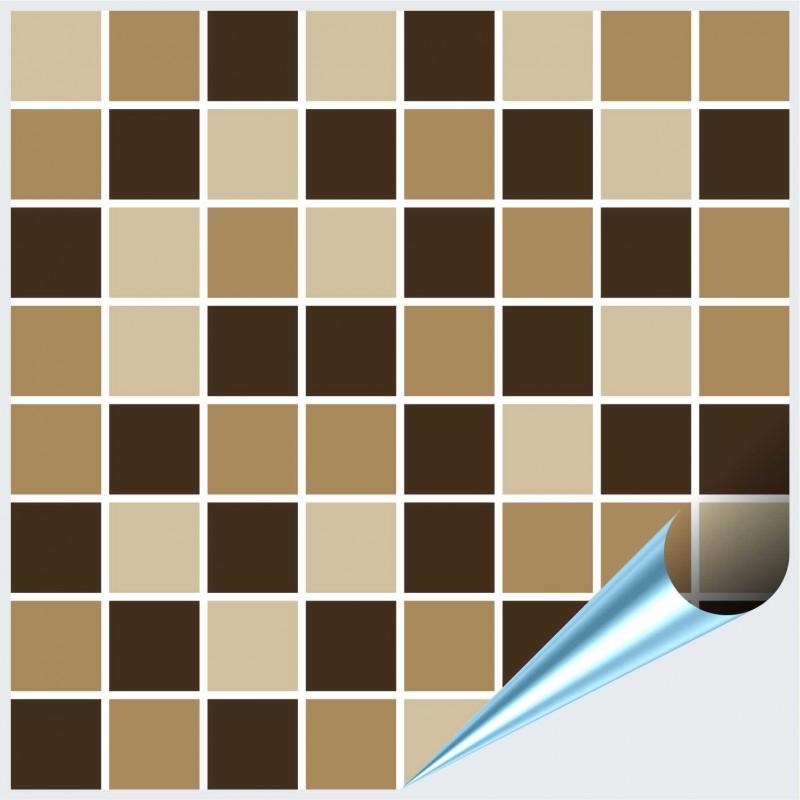 Fliesenaufkleber Mosaik Marrone 15x15 cm – Bild 1