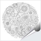 Fliesenaufkleber Ornament Flower-Circle 15x15 cm 001