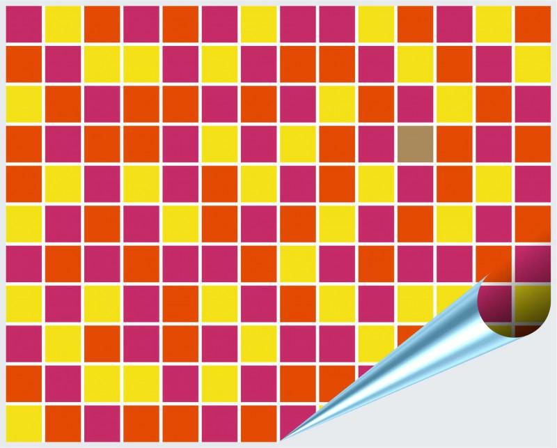 Fliesenaufkleber Mosaik pink-orange 15x20 cm – Bild 2