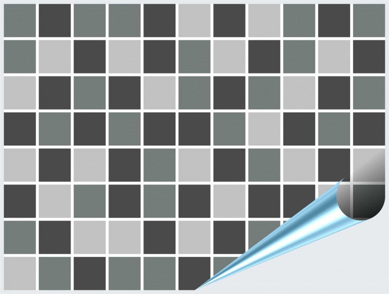 Fliesenaufkleber Mosaik grau 15x20 cm – Bild 2
