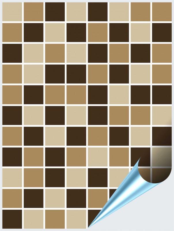 Fliesenaufkleber Mosaik beige-braun 15x20 cm – Bild 1