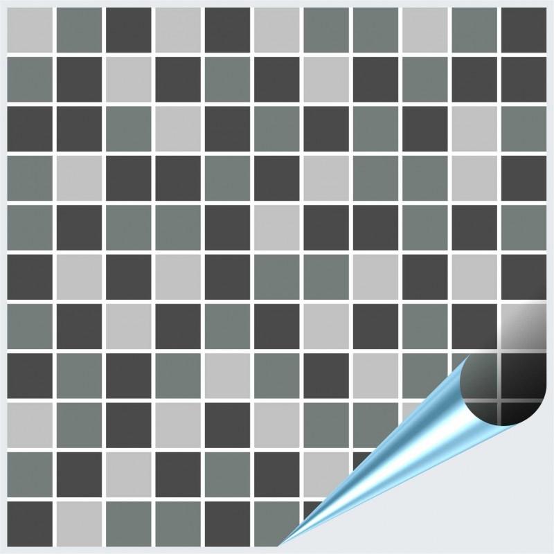 Fliesenaufkleber Mosaik grau 20x20 cm – Bild 1