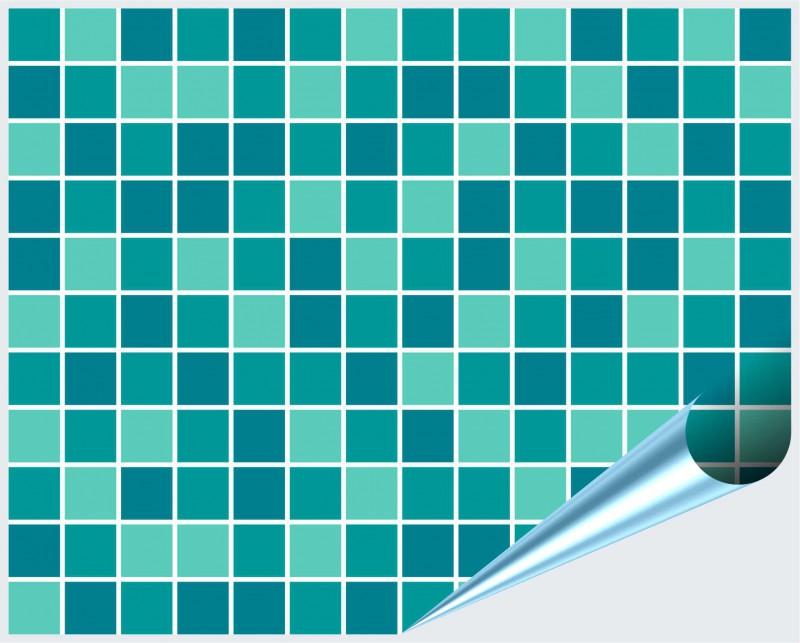 Fliesenaufkleber Mosaik türkis-mint 20x25 cm – Bild 2