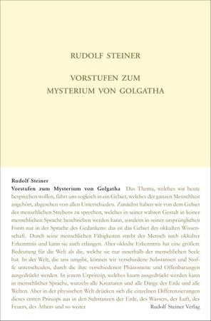 Vorstufen zum Mysterium von Golgatha
