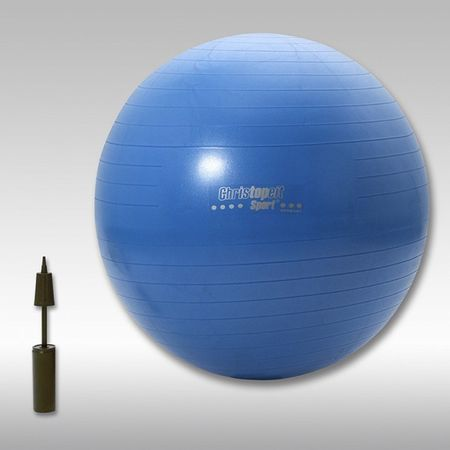 Christopeit Fitness Gymnastikball 75cm inkl. Pumpe Fitness Ball