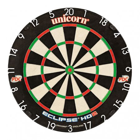 Unicorn Eclipse HD2 TV Edition PDC Turnierboard Bristle Board Dartboard Dart  – Bild 1