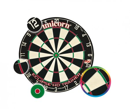 Unicorn Dartboard Eclipse HD Trainer Bristle Board Steeldart PDC Dartscheibe  – Bild 1