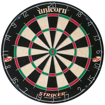 Unicorn PDC Dartscheibe Striker Bristle Dart Board Steeldart Dartboard 79383 – Bild 1