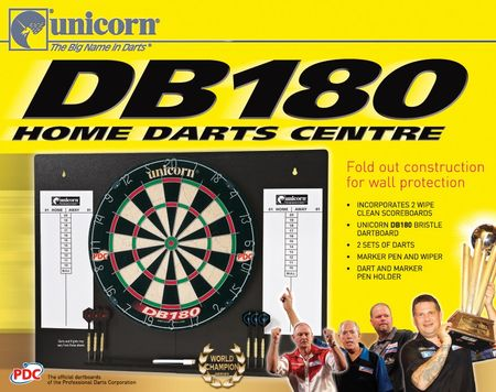 Unicorn Dartboard DB 180 Home Dart Centre Steeldart PDC Bristle Dartboard – Bild 2