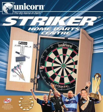 Unicorn Bristle Dartboard Striker Home Dart Center PDC Dartscheibe mit 6 Pfeilen – Bild 2