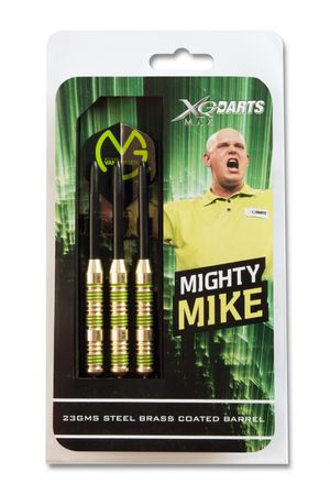 Michael van Gerwen XQ Max Steeldarts Mighty 23g Brass Steel Darts Dartpfeile  – Bild 2