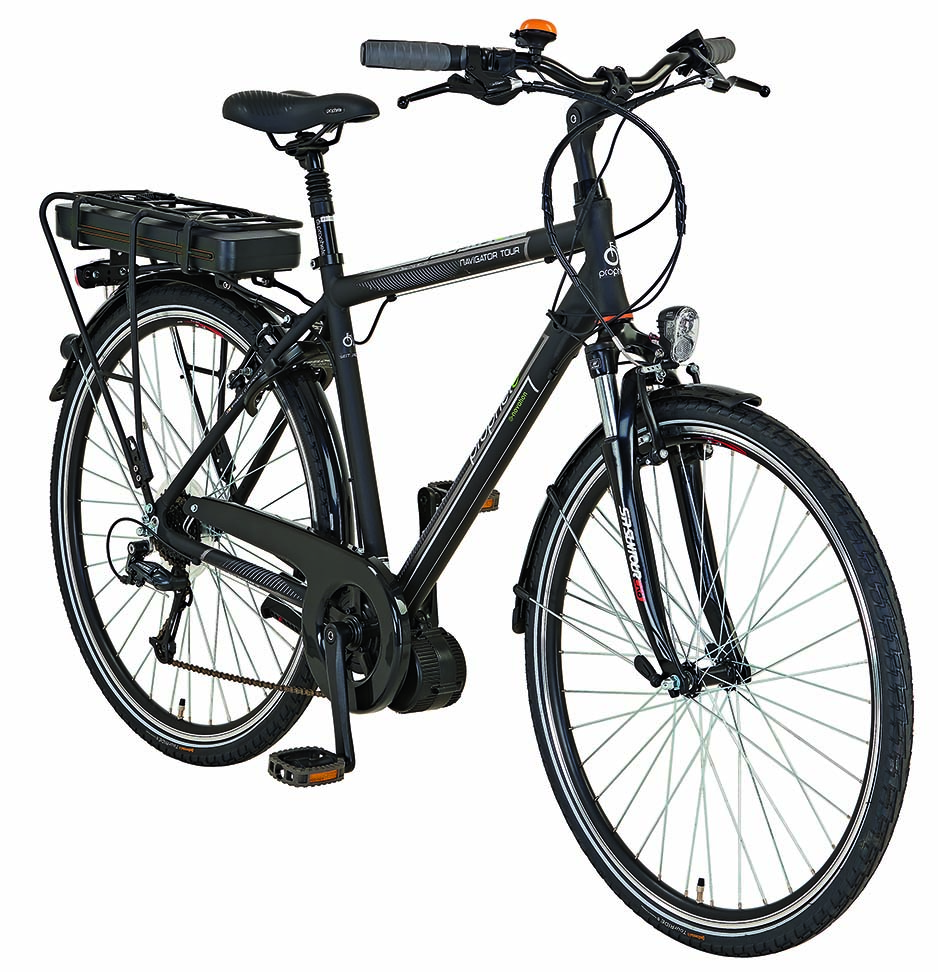 prophete e bike alu trekking navigator 28 elektro fahrrad mittelmotor 8 gang 36v ebay. Black Bedroom Furniture Sets. Home Design Ideas