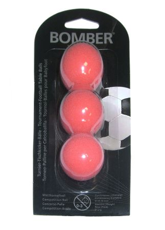 Bandito Kickerball Bomber 3er Set Robertson Tournament - rot ca. 35,1 mm – Bild 1