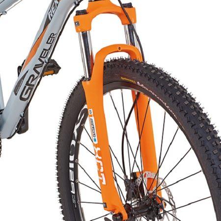 "Prophete Rex Graveler 8.5 MTB 29"" Mountainbike Alu Hardtail 27-Gang uni-grau Crossbike – Bild 3"