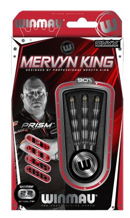 Winmau Mervyn King Steeldart Silver Colour 1071 26 g (3er Set) – Bild 2