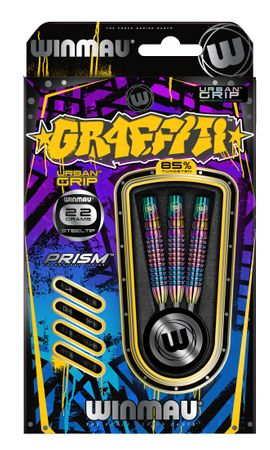 Winmau Graffiti Steeldart 1002-22 g (3er Set) – Bild 2