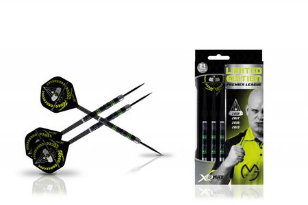 XQ MAX MvG Premier League Limited Edition Steel Darts Black Dartpfeile 25 g Steeldarts