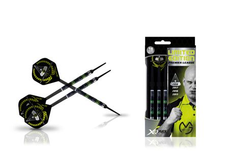 XQ MAX MvG Premier League Limited Edition Soft Darts Dartpfeile 18 g Softdarts