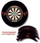 Karella Surround Dartboard Auffrangring Catchring Schwarz Dart Board Ring 4-teilig  001