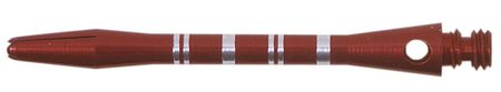 Winmau Shaft Alu Stripe rot medium ca. 45 mm (3 Stück)